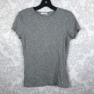 James Perse Gray Short Sleeve Tee Top Basic